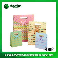 SLG62 Many Color High quality customized gift bag paper for gift