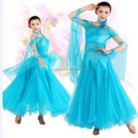 Dance Favourite Light see blue Performance ballroom costumes, competition ballroom dress