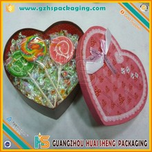 Pink color Heart-shaped paper gift candy boxes for sale