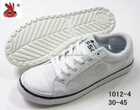 high quality white black men canvas shoes