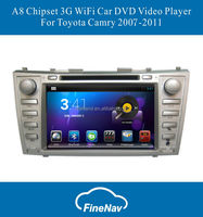 """8"""" Android Tft Screen Car dvd player Stereo for Toyota Camry 2007-2011with Gps Navi,3G,Wifi,Bluetooth,Rear View Camera,DVR"""