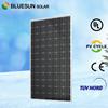 BlueSun Hot sale in EU and USA TUV UL CE lsited high efficiency mono 300w solar panel price