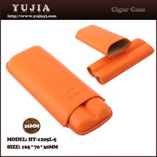 Travel big diameter portable leather cigar case cigar holder with gift box