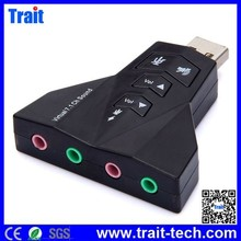 USB 2.0 to Virtual 7.1 Channel Audio Sound Card Adapter for PC/LAPTOP