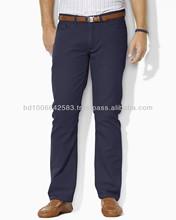Para hombre vestido de alta calidad del pantalón chino, un estilo de bolsillo 5, 98% 2% de algodón del spandex