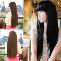 New Style Fashion Long Straight women wigs Full Hair Wigs Cosplay/Party