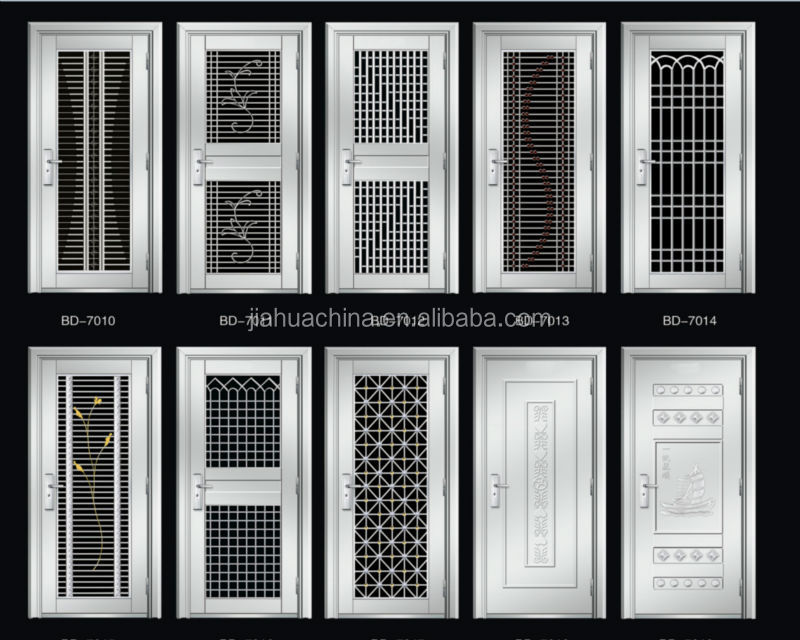 Ss stainless steel door design view ss stainless steel for Outside main door design