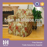 Easy fit decorative and protective printed chair slipcovers