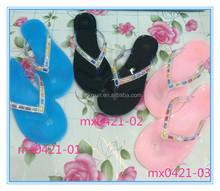 Good Quality PU Summer Comfortable Crystal Rhinestones 2014 Women Slipper Flip flops
