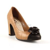 2015 New Brand Design High Quality Genuine Leather Classics Camellia High Heel Dress Shoes For Women