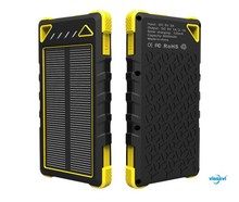 New product Promotional 8000mah solar power bank charger for smart phone