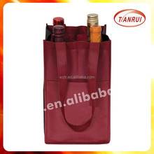 2015 popular OEM logo bulk pack promotional recycle new style pp non woven wine bags