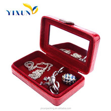 Special Designed Red PU Leather Jewellery Case