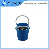 folding bucket spin mop with long handles