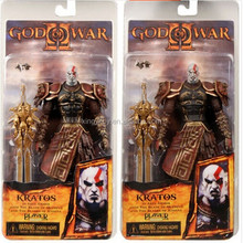 """Neca God of War 2 II Kratos in Ares Armor W/Blades(Mouth Opend) 7""""Toy Action figure"""