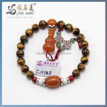 2014 Wholesale Fashion Handmade tiger eye beads bracelet