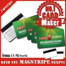 Top selling pvc blank magnetic gift card