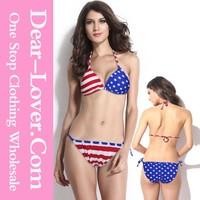 Sexi usa flagge banduau sexy american flag two pieces bikini swimwear