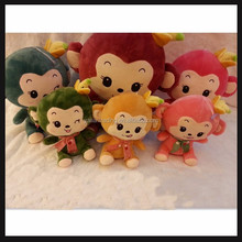 small plush hanging monkey for little pandent toy