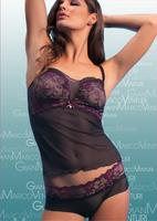 Mature Women's Sexy Transparent Lace Top Underwear