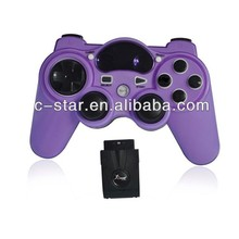 2014 hot selling double vibration game cotroller 2.4G fighting game joystick with factory price