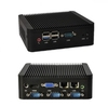 Mini ITX Intel J1800 Barebone Machine 4 RS232 COM port USB 3.0 Fanless Industrial PC Desktop Computer