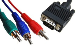 Super quality D-sub VGA input converter to S-Video 3RCA vga rca cable