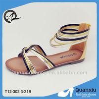 Hot popular mixed color cross Pakistani sandals