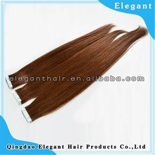 Wholesale Price brown skin weft, 7A Grade Russian Hair Tape Hair Extensions