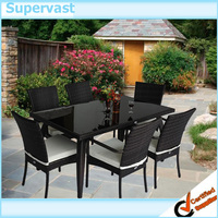 7PC Patio Set Wicker Outdoor Furniture