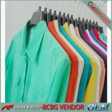 Directo de fábrica de china personalizar OEM tipo ladies ' 100% blusas de seda moda 2014