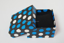 Blue Dotted Watch Box with Inner Pillow to Hold all kinds of Female Watches