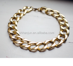 Wholesale Women Accessories Gold Artificial Jewellery Chain Necklace 007