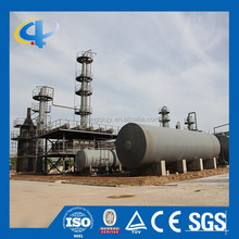 Safe and reliable continous waste tyre rubber plastic oil refining machine