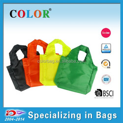 recycled polyester shopping bag, portable polyester carry bag, new design polyester bag