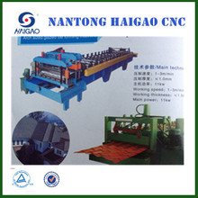 CNC color glazed steel tile roll forming machine/ iron roofing sheet corrugating machine