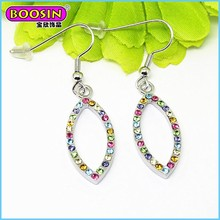 2015 Lastest design wholesale hook preciosa crystal fashion earring for women