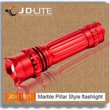 Marble Pillar Style 240 lumens aluminum flashlight led zoom focus Noiseless design power flashlight torch