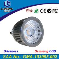 LED GU10 COB spot lamp dimmable 2700K 3000K Warm White 6W bulb light replace Halogen lamp energy saving lamp spotlight