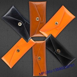 Custom Pure Handcraft Fashion Multi Functional Genuine Leather Wallet Pouch Bag for Phone