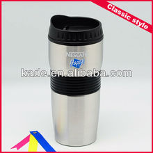 Double wall Nestle stainless steel coffee cups with silicone sleeve
