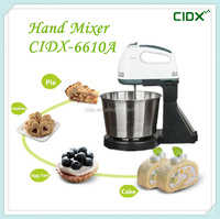 Electric Bowl-Lift Design Hand Mixer/Egg Beaters With Stainless Steel Bowl (CIDX-6610A)