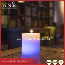 Paraffin Wax Color Changing LED Candle with Real Flame for Sale