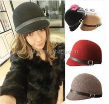 fashion wool felt hats fedora caps WFH-30