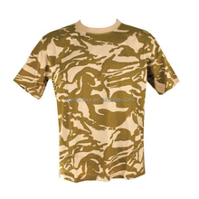 Military short sleeves o-neck camouflage t-shirt