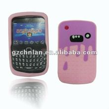 For Blackberry 8520 Pig design Silicon case,many color to choose,accept paypal