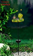 popular ceramic mini bee led solar garden light lawn ornaments for sale