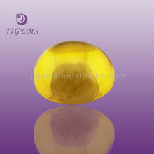 Yellow precious cabochon cubic zirconia for jewelry