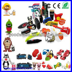 2015 Newest Customized PVC USB Flash Drive 2.0,1/2/4/8/16/32GB,sample availavle,lovely cartoon usb pen drive CE/Rohs usb