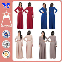 2015 Hot sale Sexy V neck Dresses Wholesale Plus size Maxi dress Long sleeve Maxi dress for Women/ Ladies/ Party/ Wedding